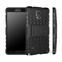 For Samsung Galaxy Note 4 Case Hybrid TPU Hard Shockproof 2 In 1 With Stand Function Cover Cases For Note4