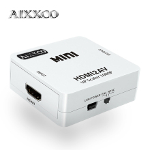 AIXXCO HD 1080P HDMI To AV/RCA CVBS Adapter Mini HDMI2AV Video Converter Box For HDTV TV PS3 Computer PC VCR NTSC(China)