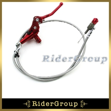 1200mm Line Red Hydraulic Clutch Lever Master Cylinder Pump For Pit Dirt Bike Motorcycle 125cc 140cc 150cc 160cc 200cc 250cc