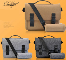 13 14 15 15.6 Inch Felt Computer Laptop Solid Notebook Tablet Bag Bags sleeve Messenger Shoulder unisex men women with 1 case(China)