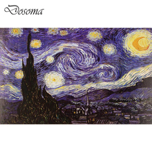 The Starry Night Painting 1000 Pieces Paper Jigsaw Puzzle Adults Collection Van Gogh Jigsaw Toys 1000 Pcs Old Master Luxury Gift