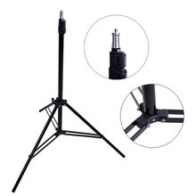 Photography Studio Adjustable 2M 79in Light Stand Tripod With 1/4 Screw Head(China)