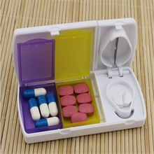 Smart Travel Pill Case Splitters Plastic Medicine Organizer Container Divider Pills Storage Box Tablet Cutter New