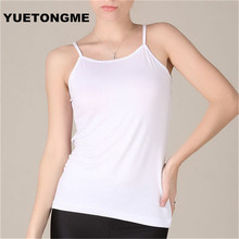 YUETONGME Plus Size XL 6XL modal Tank Tops Women Camisole Vest simple Stretchable Ladies Sexy Strappy Camis Tops BTL099(China)