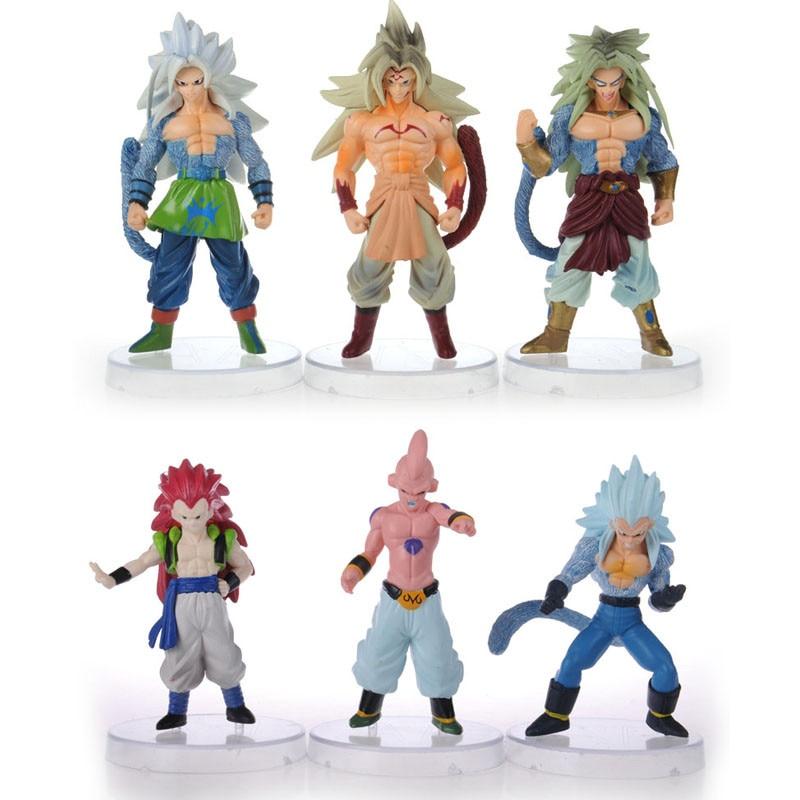 6 pcs figurines dragon ball z super saiyan goku son 2017 New  figurine dragon ball z  AF3 generation  action figuries  toys<br><br>Aliexpress