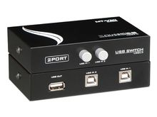 2 Port Manual USB 2.0 Sharing device Switch box for 2 computer to share 1 printer scanner MT-1A2B-CF