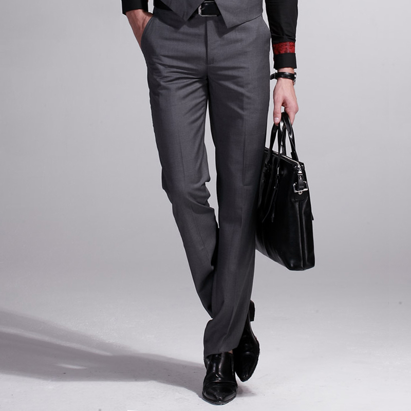 custom made Men 's Slim Pants Professional Dress Pants wool Pants Men' s Business Casual Straight Pants Spring and Autumn