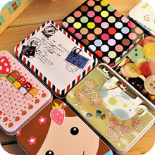 Mini Cute Kawaii Cartoon Tin Metal Box Case Home Storage Organizer For Jewelry Kids Toy Gift Home Supplies Free shipping 205(China)