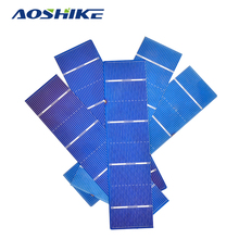 Aoshike 50pcs 156x39mm Solar Panel polycrystalline Silicon Flexible Solar Cell DIY Solars Panel China Panneau Solaire 1.05W 0.5V(China)