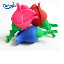 USB Flash Drive 64GB 32GB 16GB 8GB Colorful Flower Roses  Pen Drive Flash Pendrives Memory USB 2.0 Stick