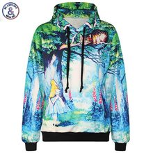 Mr.1991INC New Fashion Men/women 3d hooded hoodies funny print Fairy tale world 3d sweatshirts with pocket tracksuirt stops