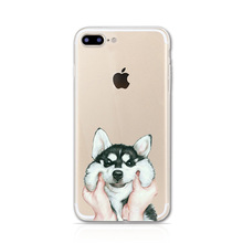 The Soft Case for iPhone 5S 5G SE 6 6S 6SPlus Cases Print Pet Dog Cat Clear Silicone Phone Cape for iPhone 7 Plus Cover Coque