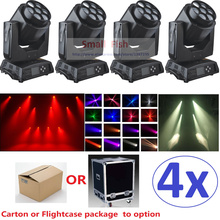 4xLot New Led Mini Bee Eye Led Moving Head Light Beam Effect 7X15W RGBW 4IN1 LED Lamp 25/55 DMX channels Endless Rotating