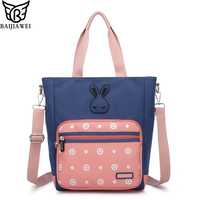 964b3b406697 BAIJIAWEI New Arrival Children s Messenger Bag Cute Canvas Shoulder Bag  Primary School Student Handbag Multi-