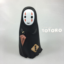 Japanese Animation Spirited Away No face Man Cute 16cm Model Toys Cartoon PVC Action Figure Piggy Bank Money Box Saving Bank(China)