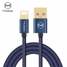Mcdodo Lightning to USB Cable Denim Cowboy Style Data Cable For iPhone 7 / 7 Plus 6 6s 5s iPad Mini Fast Charging Light Cable