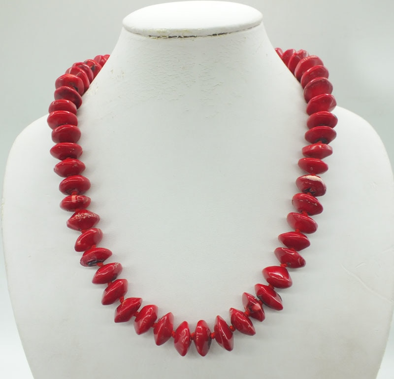 The last one, 16MM antique natural red coral necklace. Classic bridal wedding necklace jewelry.