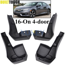 FIT FOR HONDA CIVIC 2016 2017 ALL NEW 4-DOOR SEDAN MUDFLAPS MUD FLAP FLAPS SPLASH GUARD MUDGUARDS FRONT REAR FENDER MOLDED SET