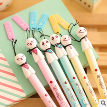 10 pcs Cute Sunny doll gel ink Pens Plastic Kawaii Gel pen Stationery Wholesale Rollerball pen Gifts Free shipping