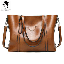 HANSOMFY Women Bags Patent Leather Vintage Shoulder Bags PU Tote Brand Zipper Solid Female Ladies Handbag Womens Retro Satchels(China)