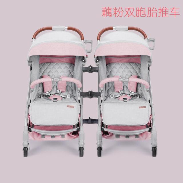 Carrito plegable portátil para gemelos recién nacidos apto para avión