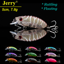 Jerry 5cm 7.8g wobbler floating rattling crankbait fishing lures freshwater artificial bait hard plastic lure