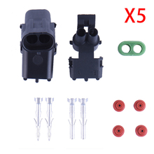5 Sets New Car Part Kit 2Pin Way Female Male Automotive Super Seal Waterproof Plug Auto Electrical Wire Connector Drop Shipping(China)