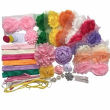 DIY Hair Bow Maker - Make 26 Headbands and 2 Clips -  kid Shower Games Headband Kit  (with instructions) A076-12