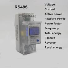 5(65)A 230V 50HZ voltage current DDS238-2 ZN/S single phase Din rail KWH Watt hour energy meter with RS485 MODBUS-RUT