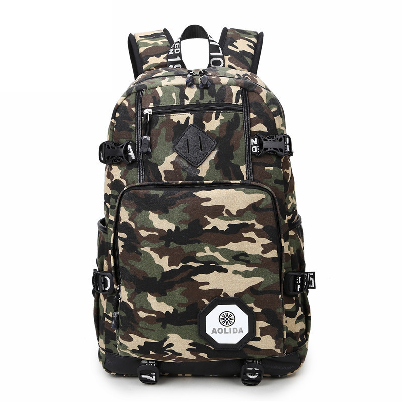 Camo Backpack Men Preppy Style School Backpacks for Boy Girl Teenagers High School Middle School Bags Large Capacity(China (Mainland))