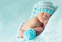 CROCHET NEWBORN white & Light blue LONG TAIL ELF PIXIE hat SPECIAL SPIRAL DESIGN ,100% cotton baby Stocking Hat PHOTO PROP