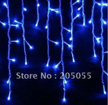 200LED 5M curtain icicle string lights Christmas Garden lamps Icicle Lights Xmas Wedding Party Decorations--BLUE(China)
