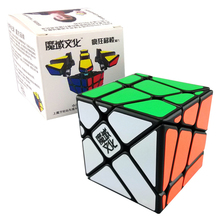 MoYu Crazy Fisher Skew Cube Strange-shape Puzzle Cube Moving Edge Magic Speed Cube Crazy Puzzles Cubes Kid's Toys(China)