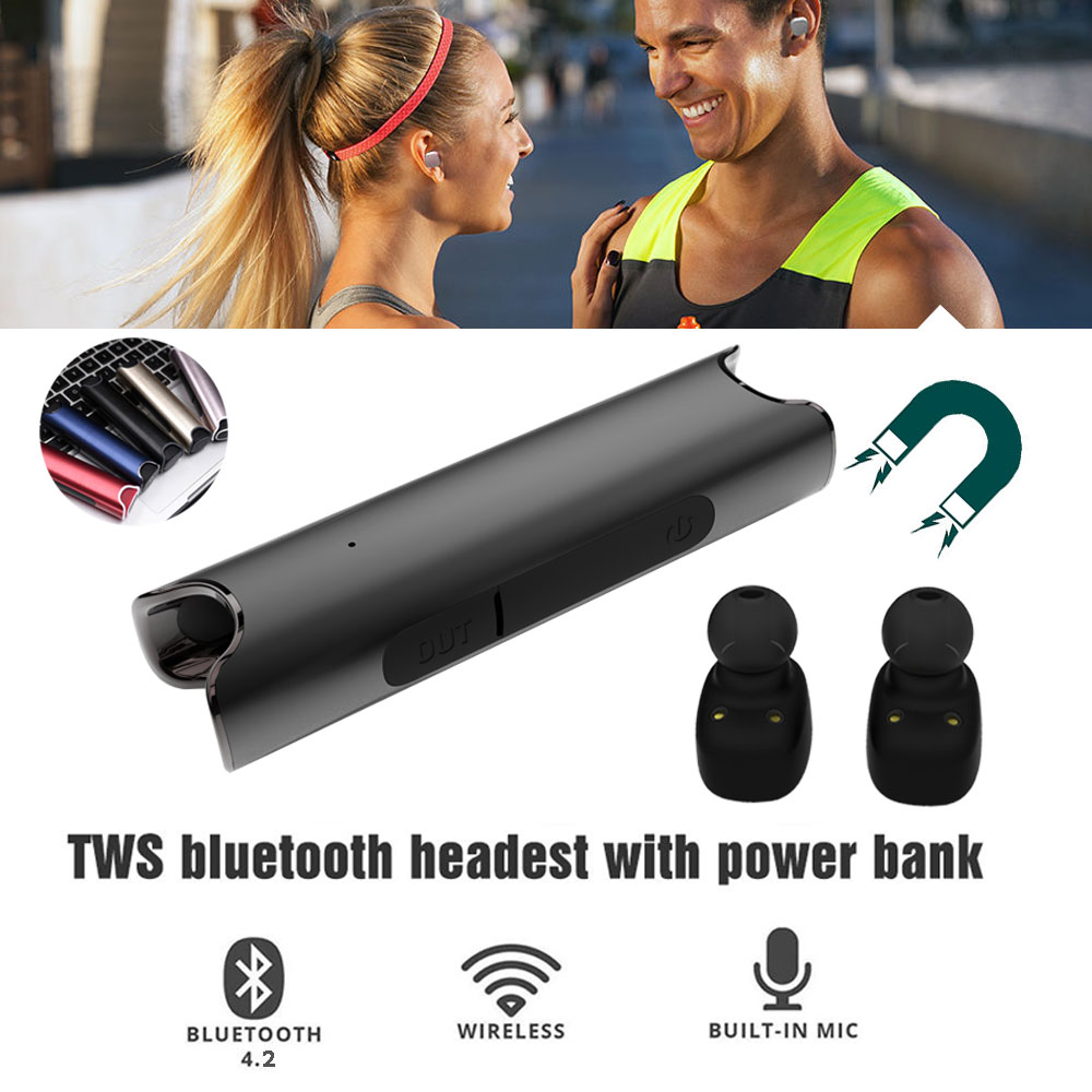 Mini S2 Bluetooth Earphone TWS Binaural Twins Stereo wireless Heasets earbuds Magnetic head phones For Xiaomi <br>