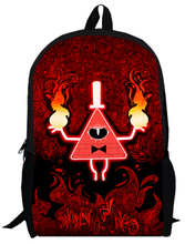 17inch gravity falls Backpack custom made for Boys and Girls Kids Cartoon movie student bag3 men