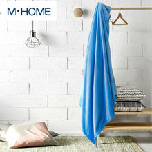 Coral Fleece Blanket Solid Flannel Fleece Blanket Knitted Spring and Summer Towels Sierran Blanket For Bedding Sheet For Bedroom(China)