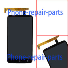 Black Full LCD Display + Touch Screen Digitizer Glass Assembly For  HTC One X OneX S720E ( Green Flex cable ) Free shipping