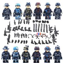 Military Series team Police guns awp Weapons Pack Army Brick Arms Weapon Blocks Best Children Toys juguetes