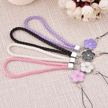 Black PU Leather Cell Phone Strap Lanyard Universal Wrist Hand for Mobile Camera Key USB Drive handbag Promotional Gifts Short