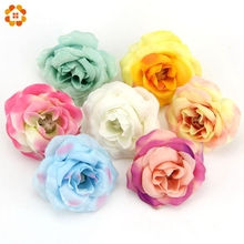 10PCS/Lot 5CM Silk Rose Artificial Flower Head For Home Wedding Decoration DIY Wreath Gift Box Scrapbooking Crafts Fake Flower
