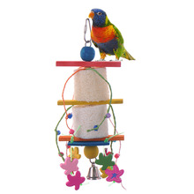 New Arrival Pet Parrot Conure Cockatiel Parakeet Chewing Toy Parrot Bird Bites Swing Loofah Vine Balls Cages Toy