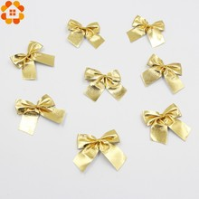 New Year!12PCS Gold and Silver Christmas Tree Ornaments Bow For Christmas Gift Decoration Supplies(China)