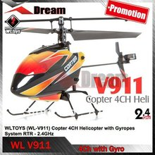 Free shipping WL V911 4CH 2.4GHz Mini Radio Single Propeller RC Helicopter with Gyro Solo Pro