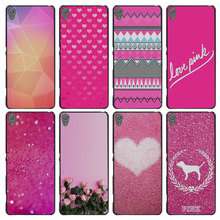 Pink sugar glitter Style Case Cover for Sony Ericsson Xperia X XZ XA XA1 M4 Aqua E4 E5 C4 C5 Z1 Z2 Z3 Z4 Z5