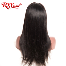RXY Lace Front Human Hair Wigs With Baby Hair Top Peruvian Straight Lace Front Wigs For Women Black Pre Plucked Lace Wig NonRemy(China)