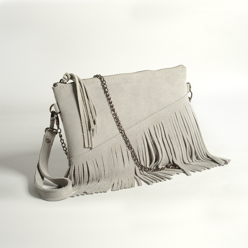 women bag chain shoulder cross body bags frosted leather fringe tassel (11)