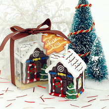 1 PC Creative Christmas Cottage Candles Child Birthday Candle Festival party romantic Christmas Eve Christmas Home decoration(China)