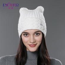 Brand 2016 New Winter Cotton Knitted Caps For Parent-child Lovely Cat Ear Beanies Cute Casual Hats New  Arrivals Gorros