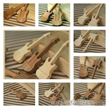 (Can customize LOGO) Guitar Wooden USB FLASH DRIVE violin pen drive Real capacity 4gb 8gb 16g 32G High Speed Pendrive 100pcs/lot
