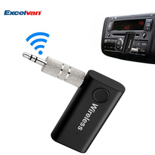Excelvan 3.5mm Car Wireless Bluetooth V3.0 Kit Audio Music Receiver Stereo Adapter Hands-free Call AUX USB Charge For iPhone(China)